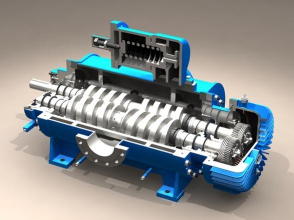 透视螺杆泵工作原理