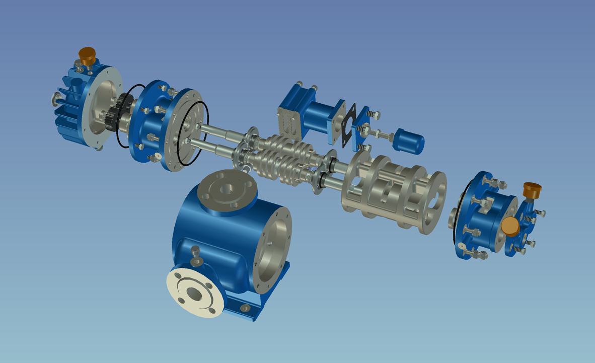 双螺杆泵分解图