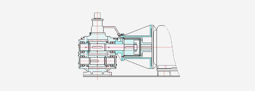 磁力齿轮泵结构