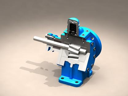 YCB圆弧齿轮泵剖面图