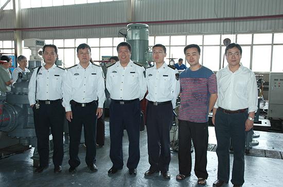 热烈欢迎省国防科工局领导及各位专家团莅临指导