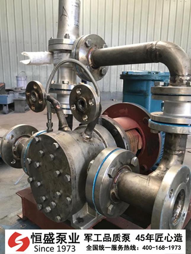 沥青保温泵高粘度泵的开机