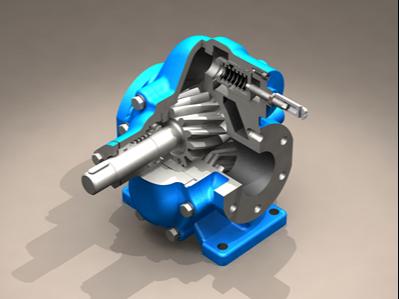恒盛泵业KCB齿轮泵的结构